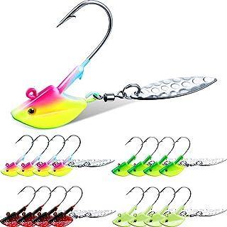 10Pcs Lead Jighead Fishing Hooks Jig Heads Bass R5T6