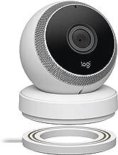 Logitech Circle Wireless HD Video Security Camera with 2-way talk - White - (Renewed)