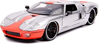 Jada Toys Big Time Muscle 2005 Ford GT Silver with Orange Stripe 1/24 Diecast Model Car by Jada 31324