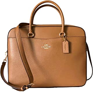 Coach Crossgrain Leather Laptop Bag (Light Saddle)