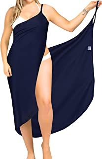 LA LEELA Beach Rayon Women's Bikini Tie Slit Cover Up Sarong