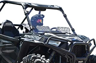 SuperATV Heavy Duty Scratch Resistant Vented Full Windshield for Polaris RZR XP 1000 / XP 4 1000 (2014-2018) - Vented for Extra Airflow - Installs in 5 Minutes!