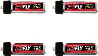 Venom Fly 30C 1S 150mAh 3.7V LiPo Battery with E-flite MCX Plug x4 Pack Combo - Compare to E-flite EFLB1501S25