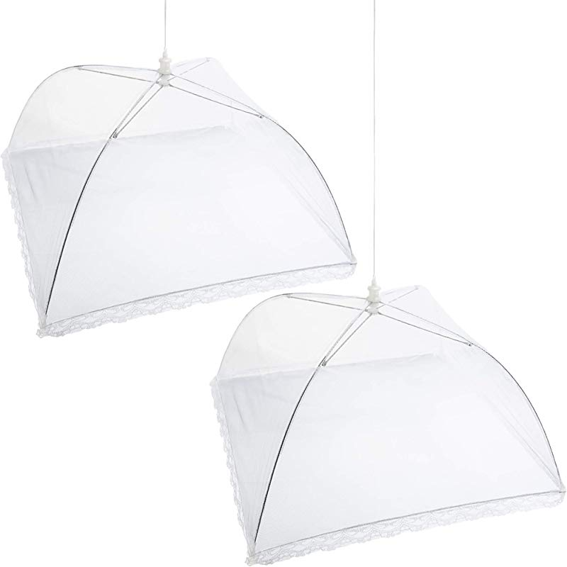 Mesh Screen Food Cover Tents Set Of 2 Large Galvanized Steel Wire Pop Up Tents Stylishly And Conveniently Keeps Bugs Away From Food By Chuzy Chef