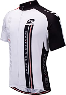 Men's Cycling Jerseys Tops Biking Shirts Short Sleeve Bike Clothing Full Zipper Bicycle Jacket with Pockets