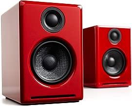red studio speakers