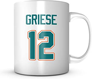 Bob Griese Mug - Miami Football Legend Jersey Number Coffee Cup