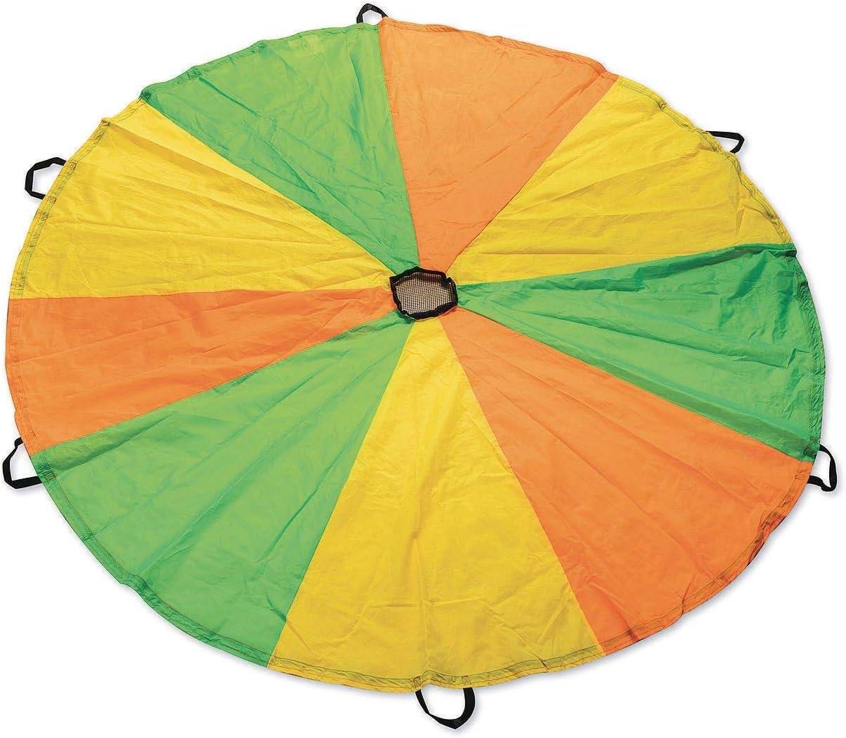 SS Worldwide Ultra Rip-Stop Neon Nylon Parachute, 6' Dia.