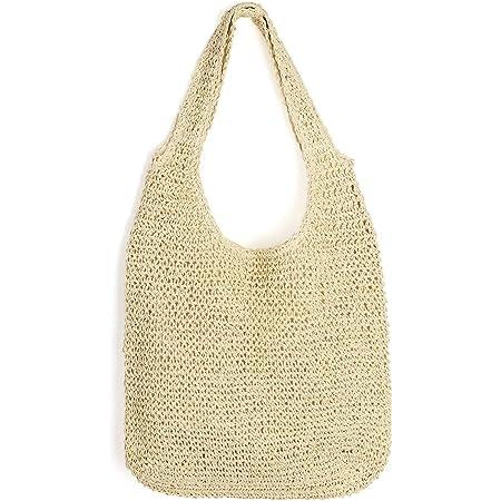 CHIC DIARY Strohtasche Schultertasche Damen Casual Groß Sommertasche Flechttaschen Strandtasche Henkeltasche für Shopper Urlaub