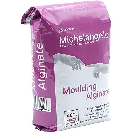 Michelangelo Moulding Alginate (1 x 450 g.) Alginate chromatique pour des impressions de haute précision. idéal pour moulages des mains ou du corps.
