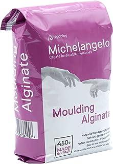 Michelangelo Moulding Alginate (1 x 450 g.) Alginate chromatique pour des impressions de haute précision. idéal pour moula...