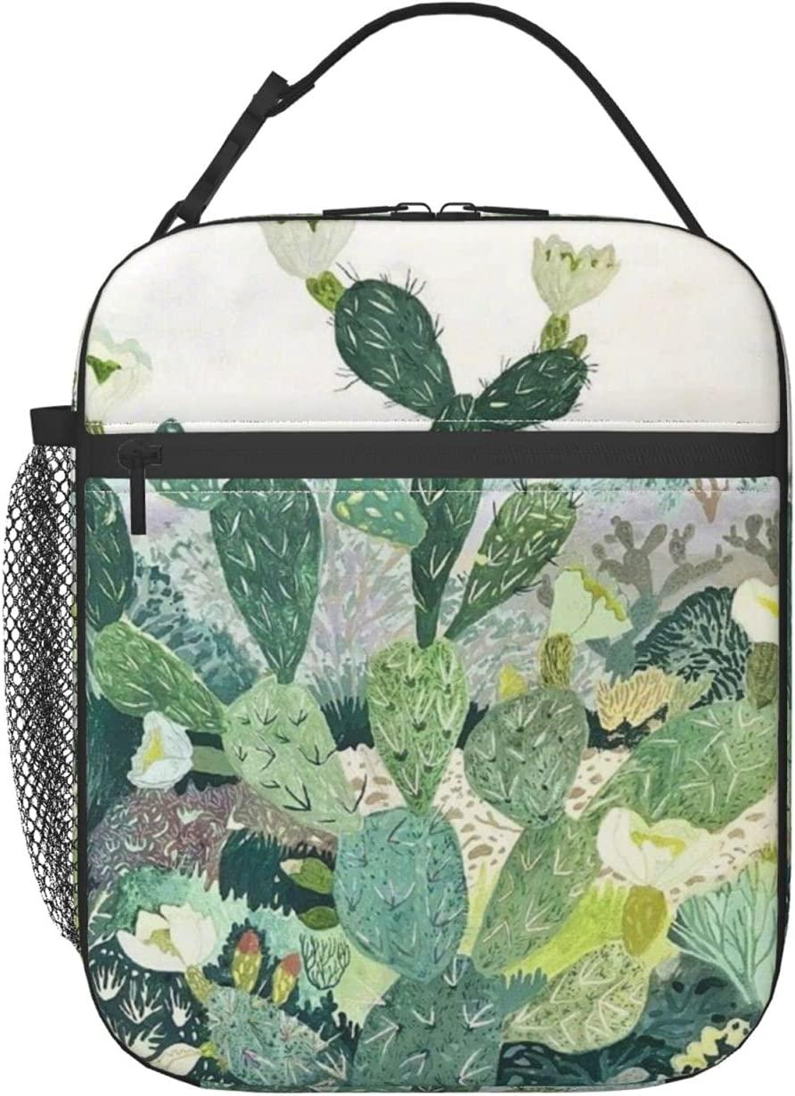 NEW Cactus Portable Thermal Lunch Bag F Insulated Recommended Box Reusable