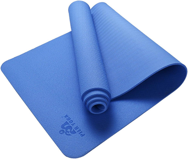 QIDI Yogamatte TPE Umweltschutz Geschmacklos rutschfest Trainingsmatte 173  61  0,6cm (Farbe   T-1)