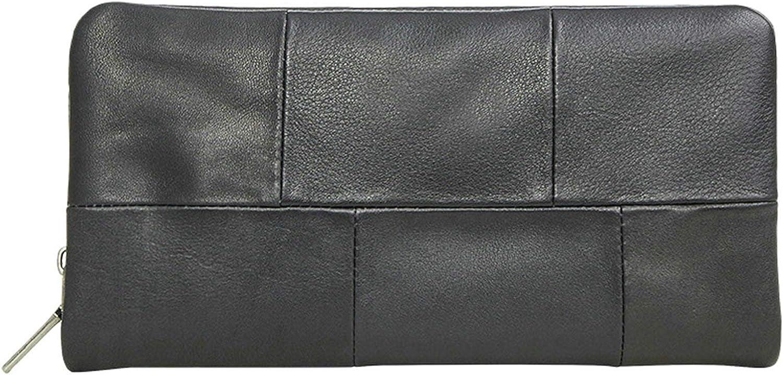 Amody Herren geldbörse Cowhide Cowhide Cowhide Leder Reißverschluss portemonnaie Rechteck lang brieftasche Karteninhaber Portemonnaies B07Q7GCMXX 80eda6