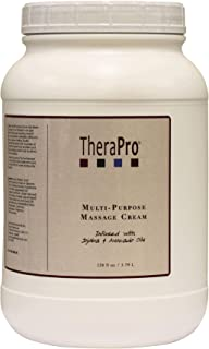 Multi-Purpose Massage Cream by TheraPro - Infused with Jojoba & Avocado Oil - Hypoallergenic - Smooth Glide, Low Friction ...