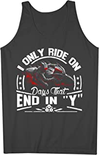 I Only Ride In Days That End In Y Biker Rider 男性用 Tank Top Sleeveless Shirt