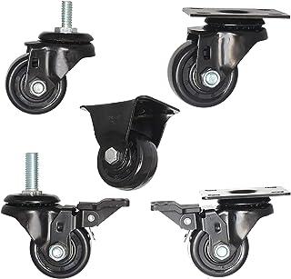 Caster wiel Heavy Duty, Werkbank Caster 4 stks, Heel dempen, 360 graden flexibele rotatie, Dubbele lagers en sloten, Gesch...