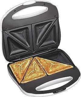 J-Jati Sandwich Maker, Panini Press + Electric Sandwich Maker Toasting, Grilling, Waffles, Omelettes, Breakfast, Lunch, dinner, Sandwich Toaster, white