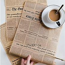 خمر نمط الإنكليزية تصميم التفاف ورقة التعبئة والتغليف سيليكون ورقة ورقة ورقة ورقة سكين أداة خبز ل Sandwich Hotdog آمنة ومت...