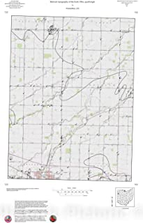 Historic Pictoric Map : Bedrock Topography of The Scott, Ohio, Quadrangle, 1991 Cartography Wall Art : 24in x 36in