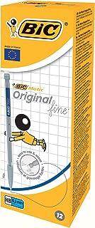 BIC Matic Original Fine 0,5 mm HB Vulpotlood - Verschillende Kleuren Lichaam, Doos van 12 Stuks