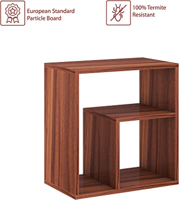 Klaxon Gregory Engineered Wood End Table/Side Table (Asian Walnut)