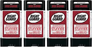 Right Guard Antiperspirant - Best Dressed Collection - Stunner - Clear Gel - Net Wt. 4.0 OZ (113 g) Per Stick - Pack of 4 Sticks