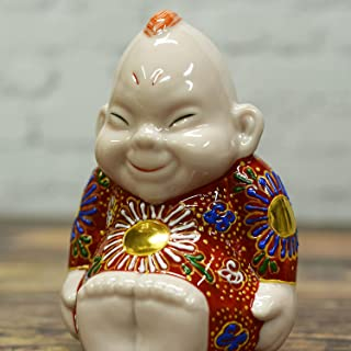 開運 置物 九谷焼 ビリケン 赤茶盛 陶器 縁起物 風水 アイテム