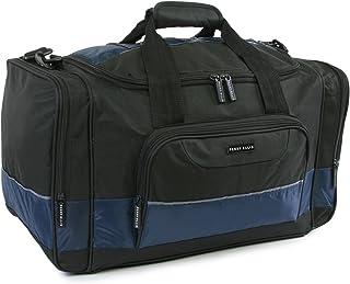 "Perry Ellis 22"" Business Duffel Bag, Black/Navy, One Size"