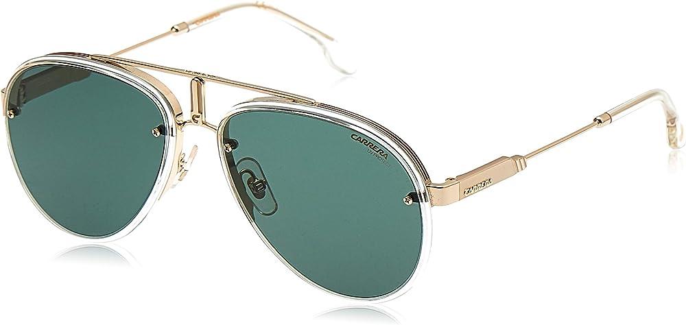Carrera, occhiali da sole unisex, montatura in metallo e acetato, lenti  verdi antiriflesso CARRERA GLORYA