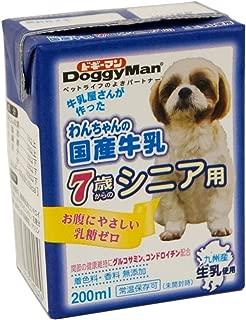 ドギーマン わんちゃんの国産牛乳 シニア用 200ml×12個