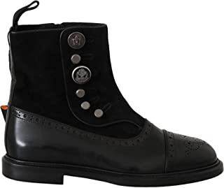 Dolce & Gabbana - - All - Dolce & Gabbana Black Suede Leather Zipper Boots Shoes - EU39/US6