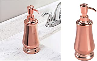 InterDesign Jacqueline Soap & Lotion Dispenser for Bathroom Vanity and Kitchen Countertop – Rose Gold