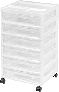 IRIS USA, Inc. 150815 IRIS 6-Case Scrapbook Cart, Black, White