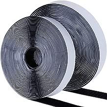 20 mm breit x 5 m lang mit Super-Kleber 2 Rollen in schwarz und 2 Rollen in wei/ß 5 m strapazierf/ähig Befestigungsstreifen Vidillo Klettband selbstklebend doppelseitiges Klebeband 4 Rollen