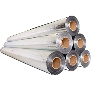 Perforated for Breathability NOT Metalized Film Pure Aluminum 97/% Reflectivity TearProof//Strongest Radiant Barrier Available /… Original AtticFoil Radiant Barrier 500 sq ft roll // 48 x 125ft