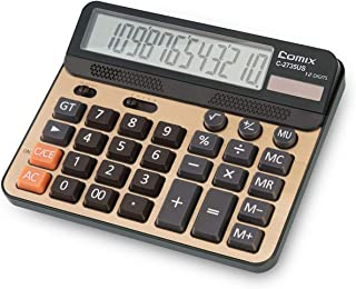 Calculator 12 Digits LCD Display Standard Function Desk Calculators with Large Computer Keys Dual Powered Solar Office Cal...