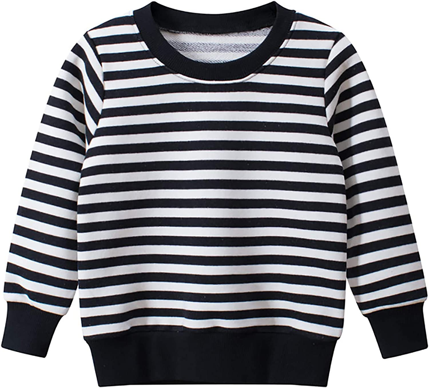 Kids Toddler Girls Boys Striped Sweatshirt Casual Long Sleeve Pullover Tops Tee Shirts Blouse