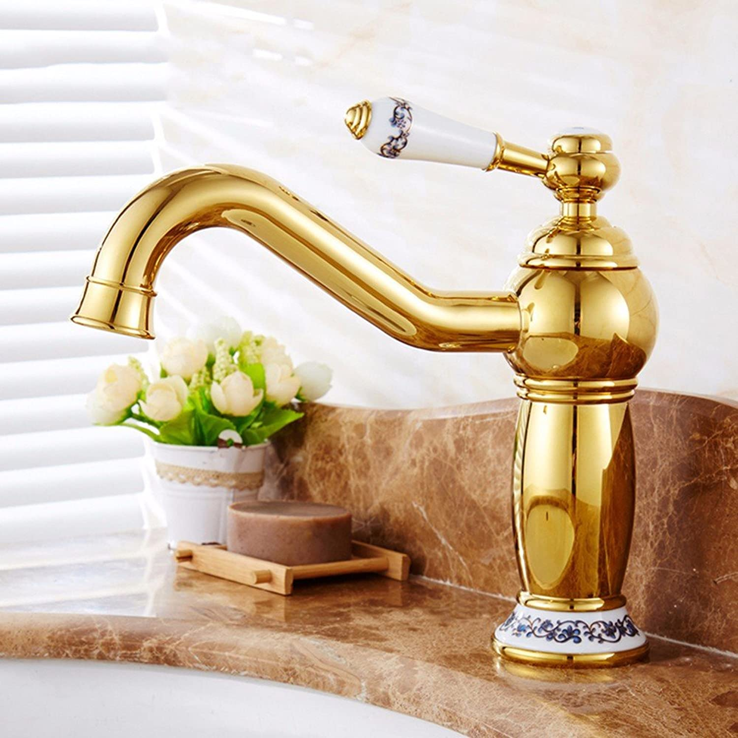 Hlluya Professional Sink Mixer Tap Kitchen Faucet Copper, hot and cold, the basin, single handle, plus high, Single Hole, sink Faucet 10