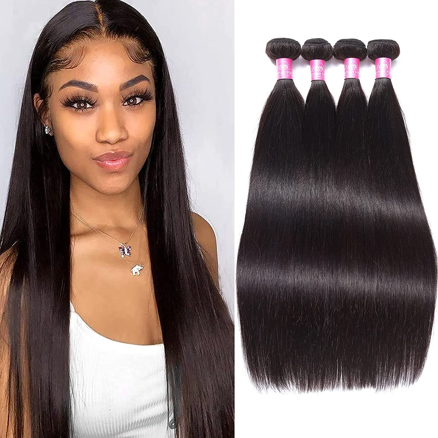 """New color 8A Remy Brazilian Virgin Hair Straight 22"""" 26"""" 24"""" 20"""" Free shipping on posting reviews Mink Huma"""