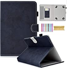 8.0 inch Universal Wallet Case, Motie Protective Slim Stand Cover Case for iPad Mini/Galaxy Tab/Fire HD 8/Mediapad/Lenovo/RCA/Acer/LG G Pad/Lenovo and More 7.5-8.5 inch Tablet (Darkblue)
