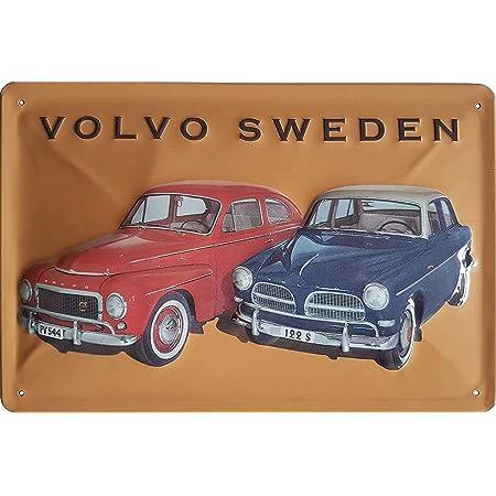 Volvo Retro Werbung Hochwertig Geprägtes Blechschild 30 X 20 Cm Wanddekoration Küche Haushalt