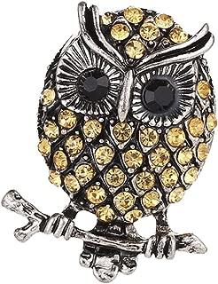 MagiDeal Owl Brooch Pin Crystal Breastpin Rhinestones Broochpin FOR Wedding Banquet