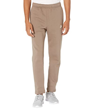 Nike NSW Club Pants Open Hem (Olive Grey/Olive Grey/White) Men