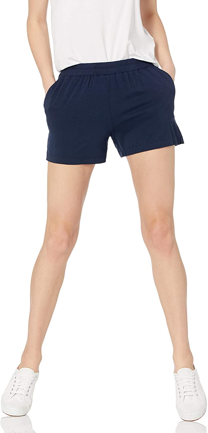 Amazon Essentials Women's Classic Fit Knit Pull on Short