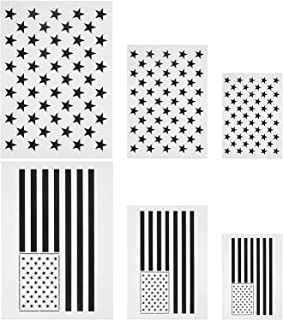 Star Stencil 50 Stars American Flag Template and 2 in 1 USA Flag Stencil for Painting on Fabric, Paper, Wood, Wall, Multiple Use