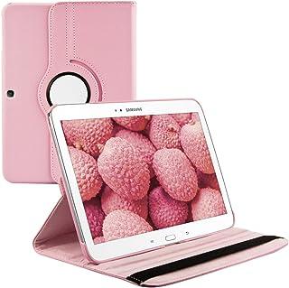kwmobile Funda compatible con Samsung Galaxy Tab 3 10.1 P5200/P5210 - Carcasa de cuero sintético para tablet en rosa claro