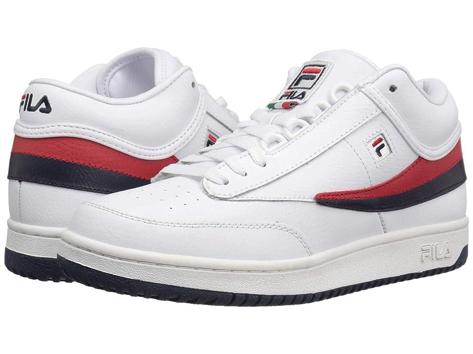 Fila T-1 Mid (White/Fila Navy/Fila Red) Men