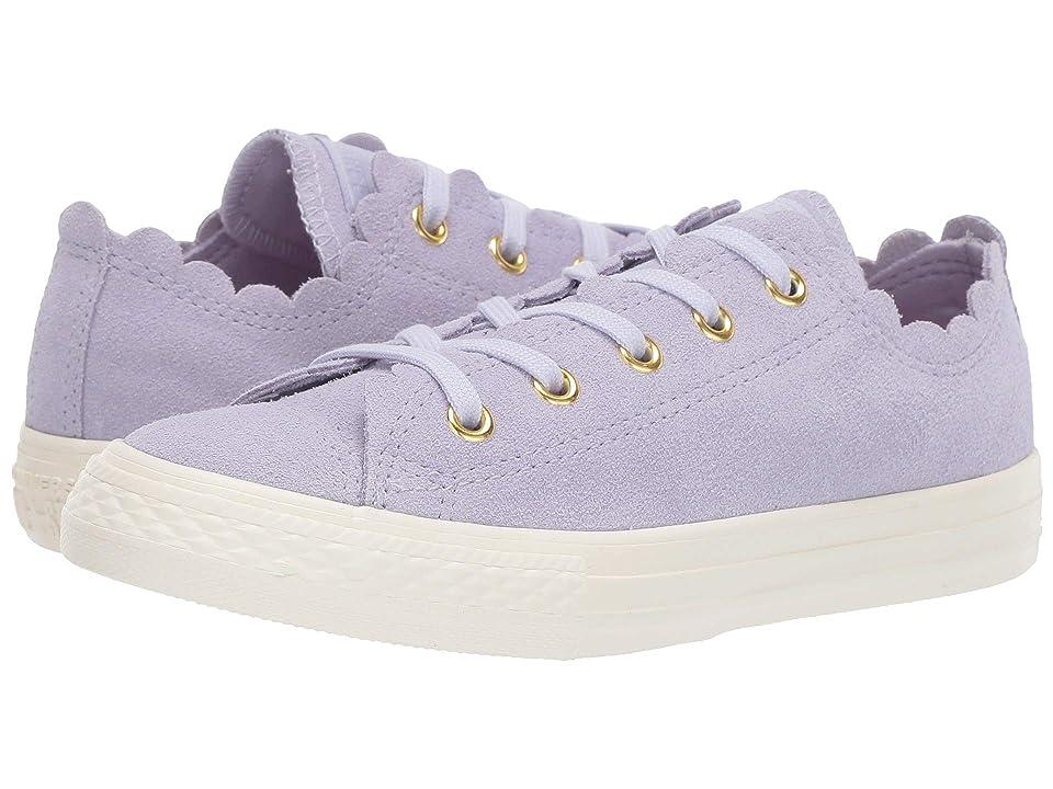 Converse Kids Chuck Taylor(r) All Star(r) Scalloped Suede Ox (Little Kid) (Oxygen Purple/Oxygen Purple) Girls Shoes