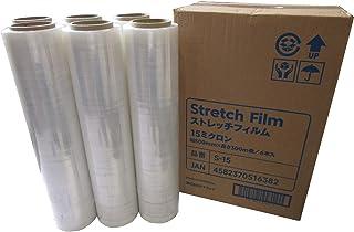 《まとめ買い6巻セット》ストレッチフィルム15ミクロン 幅500mm×300m巻き
